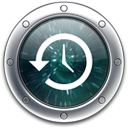 the icon for Apple's Time Machine backup application that comes with Mac OS X